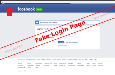 facebook phising page